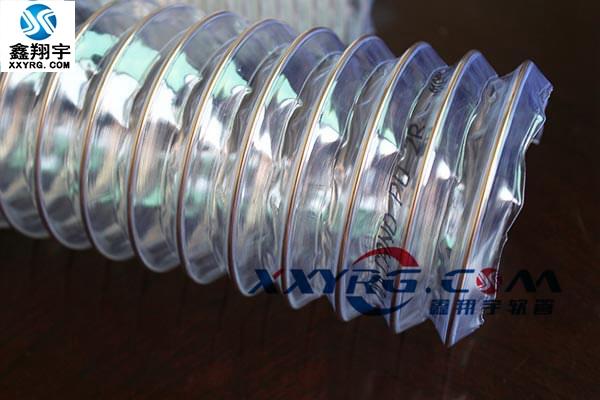 XY-0314耐磨pu透明鋼絲伸縮管